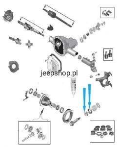 JEEP GRAND CHEROKEE OE zu Ve Neu Radlagersatz Hintrnachse Klt-ch-009  für JEEP